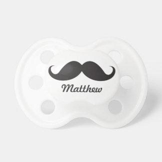 Stache negro divertido del bigote del manillar per chupete de bebé