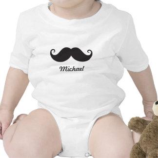 Stache negro divertido del bigote del manillar per camiseta