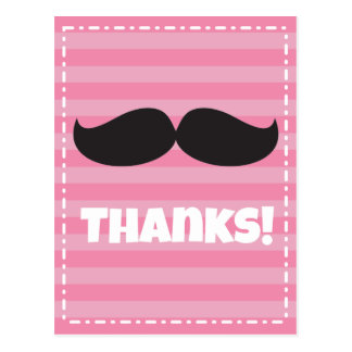 Stache Pink Post Card