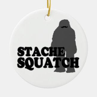 Stache Squatch Ceramic Ornament