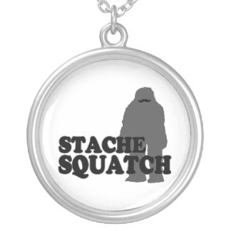 Stache Squatch Colgante Redondo