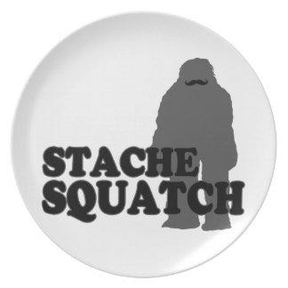 Stache Squatch Dinner Plate
