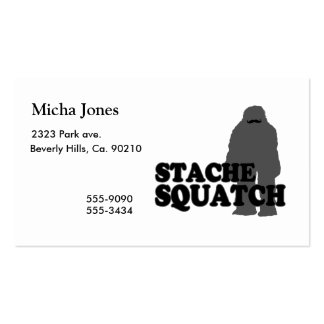 Stache Squatch Double-Sided Standard Business Cards (Pack Of 100)