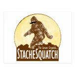 'STACHE SQUATCH poco el Cryptid - Bigfoot divertid Postales