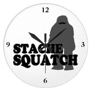 Stache Squatch Reloj Redondo Grande