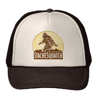 'STACHE SQUATCH The Lesser Cryptid - Funny Bigfoot Trucker Hat