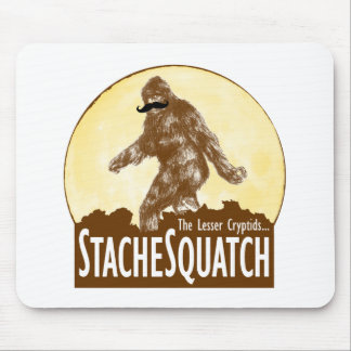 'STACHE SQUATCH The Lesser Cryptid - Funny Bigfoot Mouse Pad