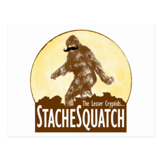 'STACHE SQUATCH The Lesser Cryptid - Funny Bigfoot Postcard