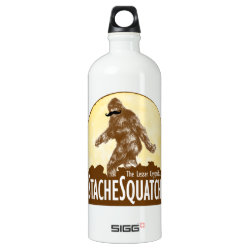 SIGG Traveller Water Bottle (0.6L) with Funny Bigfoot with Mustache: Stache Squatch design