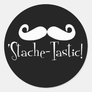 'Stache-tastic Classic Round Sticker