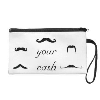 Stache Your Cash Wristlet Purse