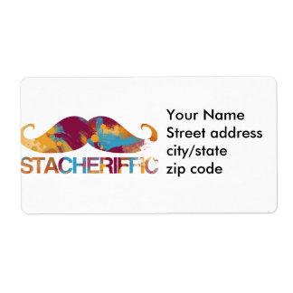 Stacheriffic Label