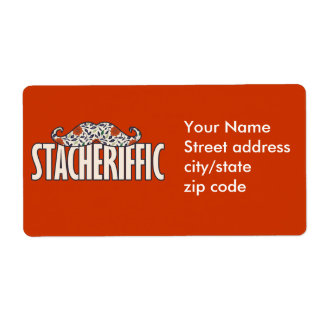 Stacheriffic Personalized Shipping Labels