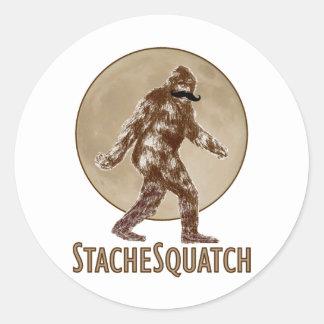 STACHESQUATCH I Mustache if you ve Seen My Squatch Round Stickers