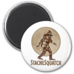 STACHESQUATCH I Mustache if you've Seen My Squatch 2 Inch Round Magnet