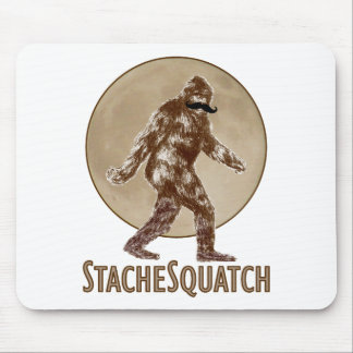 STACHESQUATCH I Mustache if you've Seen My Squatch Mouse Pad