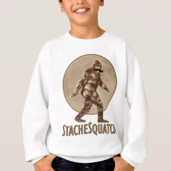 Kids' American Apparel Organic T-Shirt with Funny Bigfoot with Mustache: Stache Squatch design