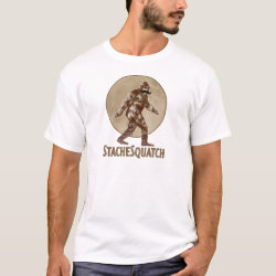 Men's Basic T-Shirt with Funny Bigfoot with Mustache: Stache Squatch design
