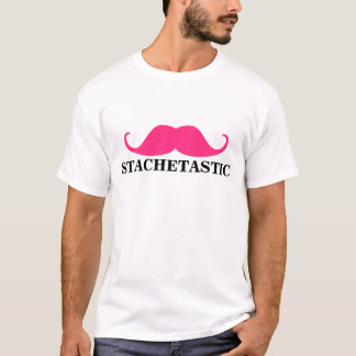 Stachetastic Pink Stache Handlebar Mustache T-Shirt