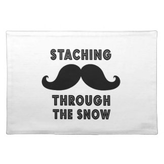 STACHING THROUGH THE SNOW | BLACK PLACEMAT