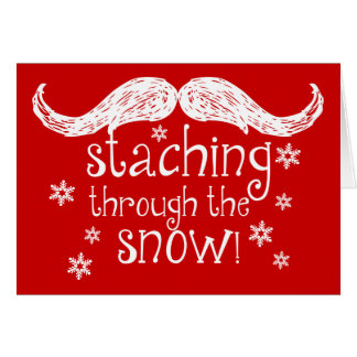 staching through the snow card