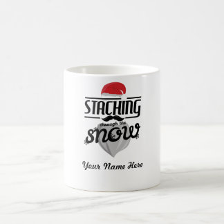 Staching through the snow Christmas mug present