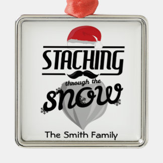 """Staching through the snow"" Christmas Ornament Joy"