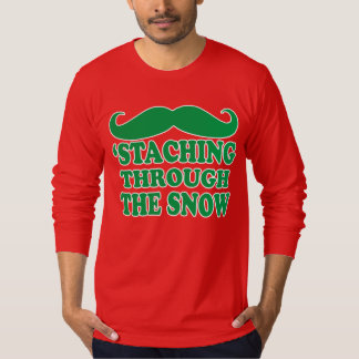 'Staching through the snow. Christmas Tee