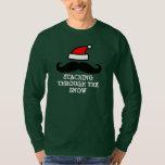 Staching through the snow | Cute Christmas sweater Shirt