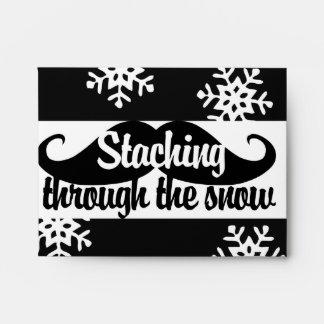 Staching through the snow envelope
