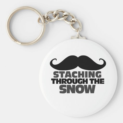 Staching through the Snow Basic Round Button Keychain