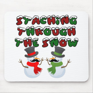Staching through the snow mouse pad