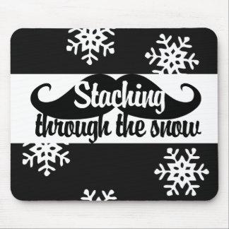 Staching through the snow mousepad