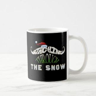 Staching Through the Snow Mug