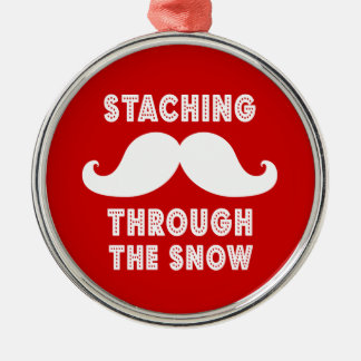 STACHING THROUGH THE SNOW ORNAMENT