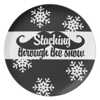 Staching through the snow plate