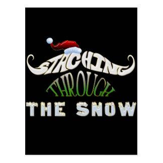 Staching Through the Snow Postcard