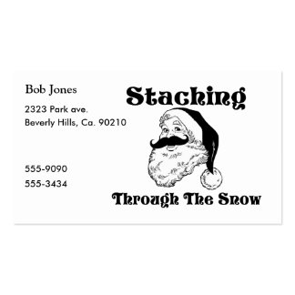 Staching Through The Snow Santa Business Card
