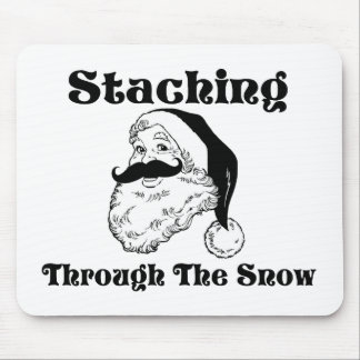 Staching Through The Snow Santa Mouse Pad