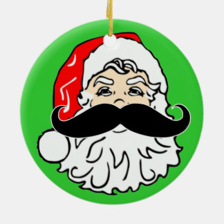 Staching Through The Snow Santa Mustache Ornament