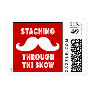 STACHING THROUGH THE SNOW STAMP | RED