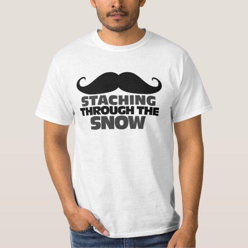 Staching through the Snow T Shirts