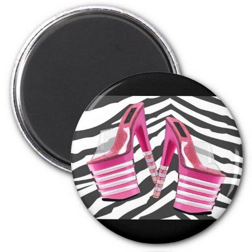 Stack Em High Pink Platform Fridge Magnets