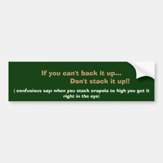 Stack It Up Car Bumper Sticker