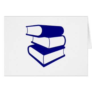Stack Of Blue Books Card