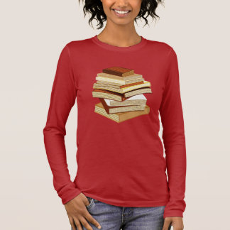 Stack Of Books - Beige Long Sleeve T-Shirt