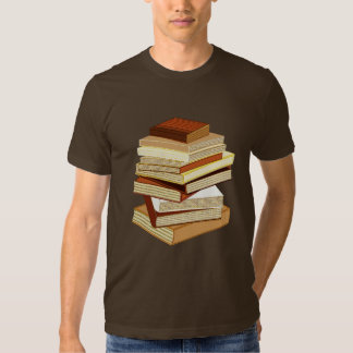 Stack Of Books - Beige T Shirt