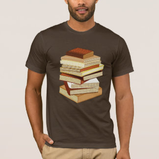Stack Of Books - Beige T-Shirt