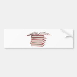 Stack of books bumper stickers