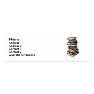 stack of books Double-Sided mini business cards (Pack of 20)